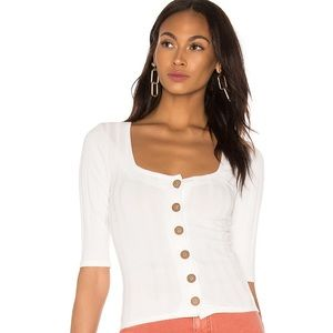 Free People Central Park Cardi in White